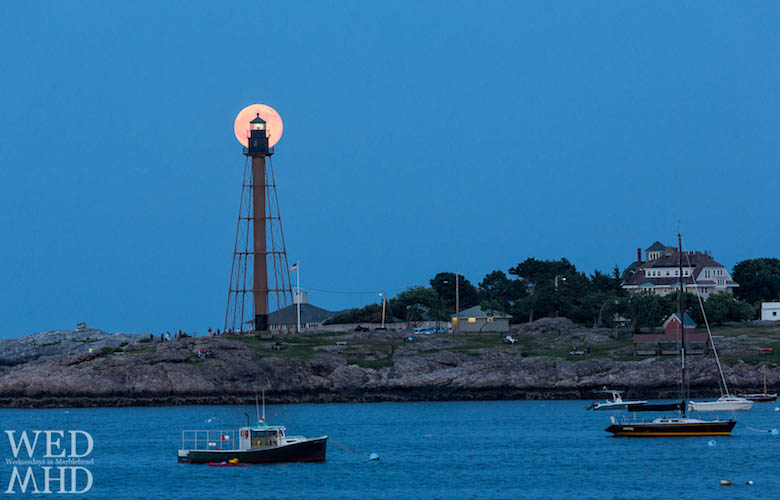Supermoon Rises over Marblehead Light